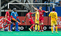 ANTWERP -    Amaury Keusters has scored for Belgium and celebrates with Thomas Briels (17) during  the match of the men  Belgium v China.  WSP COPYRIGHT KOEN SUYK