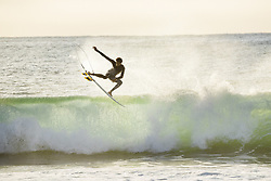 July 12, 2017 - Wildcard Michael February of South Africa getting in a morning freesurf at Supertuebs during the first layday of the Corona Open J-Bay...Corona Open J-Bay, Eastern Cape, South Africa - 12 Jul 2017. (Credit Image: © Rex Shutterstock via ZUMA Press)