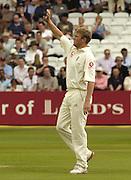 Lord's London, 1st NPower Test   England v New Zealand.  Andrew Flintoff acknowledges, 20/05/2004 <br /> [Credit Peter Spurrier Intersport Images}