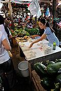Woman selling fresh tofu, Cho Vung Tau (Vung Tau Market), Vung Tau, Vietnam