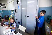 Belo Horizonte_MG, Brasil...Garoto autista na sala de aula da Escola Municipal Jose de Calazans...The autistic boy in the classroom of the Escola Municipal Jose de Calazans...Foto: LEO DRUMOND / NITRO