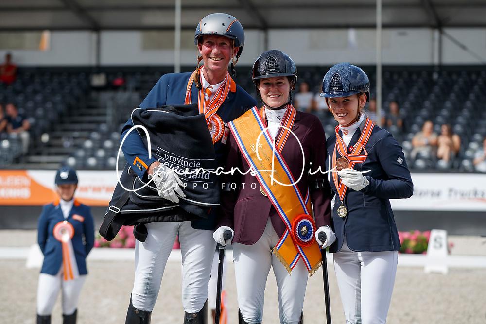 Podium Para Dressage, Voets Sanne, Hosmar Frank, Van der Horst Rixt, NED<br /> Nederlands Kampioenschap Dressuur <br /> Ermelo 2018<br /> © Hippo Foto - Dirk Caremans<br /> 29/07/2018