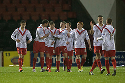 Airdrie United's Ryan Donnelly (10) cele scoring their goal..Airdrie United 1 v 4 Falkirk, 22/12/2012..©Michael Schofield.