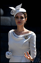 June 28, 2018 - London, London, United Kingdom - Image licensed to i-Images Picture Agency. 28/06/2018. London, United Kingdom. Angelina Jolie leaving a Service of Commemoration and Dedication, marking the 200th Anniversary of the Most Distinguished Order of St Michael and St George at St Paul's Cathedral in London. (Credit Image: © Stephen Lock/i-Images via ZUMA Press)