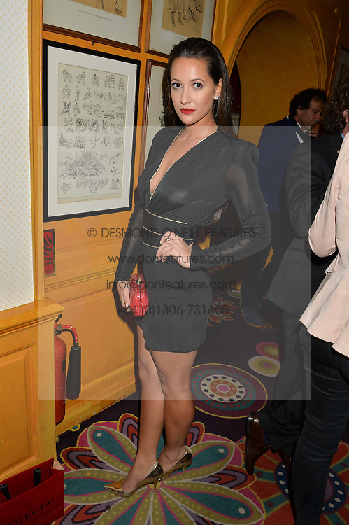 ROXIE NAFOUSI at a dinner to celebrate the launch of Genetic - Liberty Ross hosted by Liberty Ross and Ali Fatourechi at Annabel's, 44 Berkeley Square, London on 3rd September 2014.