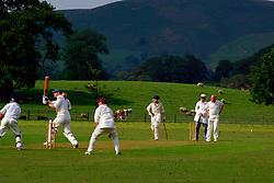 Village cricket match Bolton Abbey; Yorkshire UK