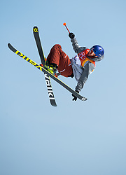 February 18, 2018 - Pyeongchang, South Korea - NICK GOEPPER of the United States competes in Mens Ski Slopestyle qualifications Sunday, February 18, 2018 at Phoenix Snow Park at the Pyeongchang Winter Olympic Games.  Geopper qualified for the finals. Photo by Mark Reis, ZUMA Press/The Gazette (Credit Image: © Mark Reis via ZUMA Wire)