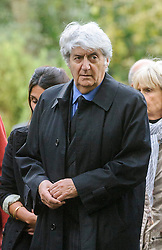 © Licensed to London News Pictures. 07/10/2014London, UK. Tom Conti arriving for the funeral of singer Lynsey de Paul in Hendon, North London Photo credit : Simon Jacobs/LNP