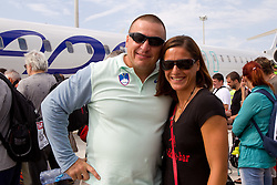 Igor Primc and Urska Klemen at departure of team Slovenia at the end of European Athletics Championships Barcelona 2010, on August 2, 2010 at Airport, Barcelona, Spain. (Photo by Vid Ponikvar / Sportida)