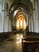 Interior view of St. Maria's Church, Augsburg, Bavaria, Germany
