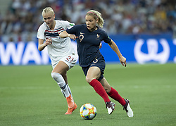 Karina SAEVIK ( NOR ), Eugenie LE SOMMER ( FRA ) in action during the match of 2019 FIFA Women's World Cup France group A match between FRANCE and NORWAY, at Allianz Riviera, Nice Arena on June 12, 2019 in Nice, France. Photo by Loic BARATOUX/ABACAPRESS.COM