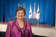 Tribal Chairwoman of the Confederated Tribes of Siletz Dee Pigsley before the 2011 White House Tribal Nations Conference at the U.S. Department of the Interior in Washington, DC on December 2nd, 2011.