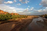 The film set town of Ait Bennadou, Morocco