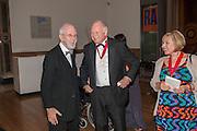 JOE TILSON; PAUL HUXLEY, Royal Academy of Arts Annual dinner. Piccadilly. London. 29 May 2012.
