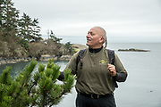 Nick Teague, BLM Recreation Planner, at Iceberg Point on Lopez Island