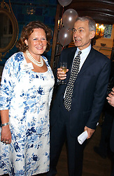 FRANK FIELD MP and ANNE JENKINS at the No Campaign's Summer Party - a celebration of the 'Non' and 'Nee' votes in the Europen referendum in France and The Netherlands held at The Peacock House, 8 Addison Road, London W14 on 5th July 2005.<br /><br />NON EXCLUSIVE - WORLD RIGHTS
