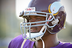 Adrian Peterson at the Vikings Training Camp in Mankato, MN
