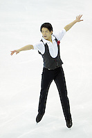 --JAPAN OUT--Takahiko Kozuka of Japan performs during the Men short program of the ISU World Figure Skating Championships 2015 in Shanghai, China, 27 March 2015.