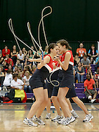 Loughborough, England - Saturday 31 July 2010: Team USA in action during the World Rope Skipping Championships held at Loughborough University, England. The championships run over 7 days and comprise junior categories for 12-14 year olds in the World Youth Tournament, 15-17 year olds male and female championships, and any age open championships. In the team competitions, 6 events are judged, the Single Rope Speed, Double Dutch Speed Relay, Single Rope Pair Freestyle, Single Rope Team Freestyle, Double Dutch Single Freestyle and Double Dutch Pair Freestyle. For more information check www.rs2010.org. Picture by Andrew Tobin/Picture It Now.