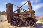 Reconstruction of a Roman siege engine. Masada national park, Israel