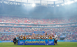 USA team celebrate with the FIFA Women's World Cup Trophy after the final whistle