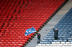 File photo dated 13/10/19 of Scotland fans at a Euro 2020 qualifying match between Scotland and San Marino. Scotland fans without a ticket to their team's Euro 2020 match with England have been warned not to travel to London by mayor Sadiq Khan. Issue date: Wednesday June 2, 2021.