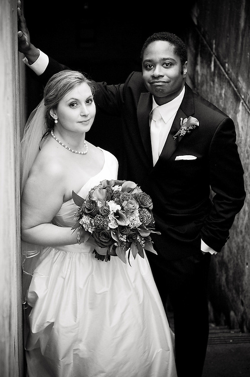 Black and white image of Bride and Groom at Willamette Valley Vineyards