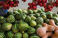 Watermelons, pomegranate, and squash at the market in Stepanakert, Nagorno-Karabakh.<br /> <br /> (September 22, 2016)