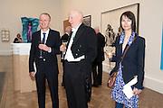 MICHAEL LANDY; BILL WOODROW; GILLIAN WEARING, Royal Academy of Arts Annual dinner. Royal Academy. Piccadilly. London. 1 June <br /> <br />  , -DO NOT ARCHIVE-© Copyright Photograph by Dafydd Jones. 248 Clapham Rd. London SW9 0PZ. Tel 0207 820 0771. www.dafjones.com.