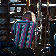 A moment to reflect at the Darby MT Elite Proffesionals Bull Riding Event July 7th 2017.  Photo by Josh Homer/Burning Ember Photography.  Photo credit must be given on all uses.
