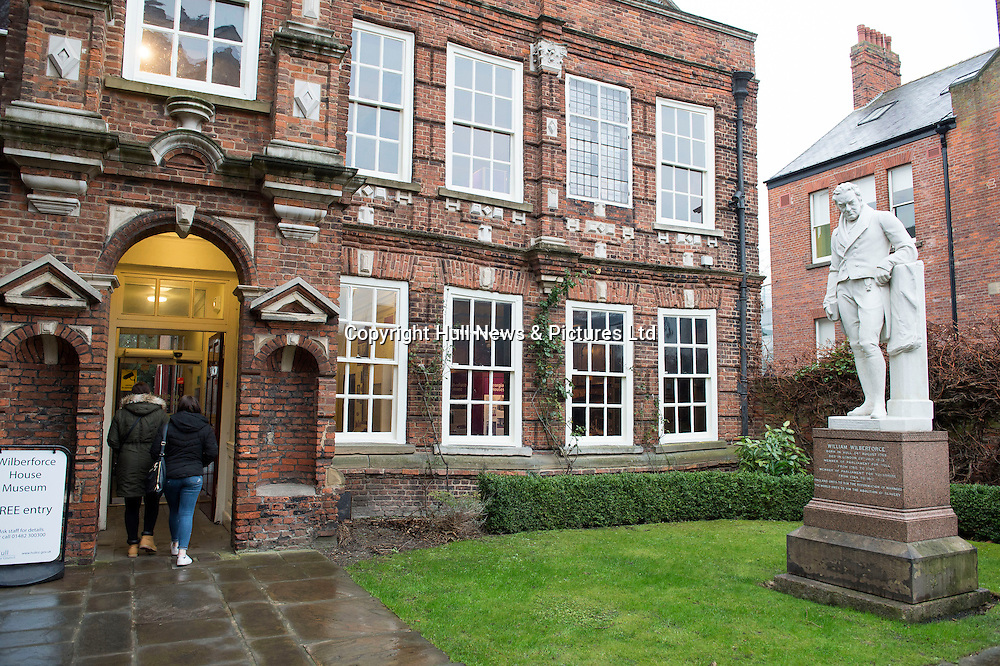 12 January 2017: The Wilberforce House Museum in High Street, Hull, the birthplace of William Wilberforce, the British politician, abolitionist and social reformer.<br /> Picture: Sean Spencer/Hull News & Pictures Ltd<br /> 01482 210267/07976 433960<br /> www.hullnews.co.uk         sean@hullnews.co.uk