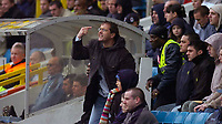Photo: Alan Crowhurst.<br />Millwall v Plymouth Argyle. Coca Cola Championship. 15/04/2006. A Millwall fan isn't happy with the referee.