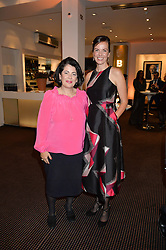 Left to right, film producer PIPPA HARRIS and BRITA FERNANDEZ SCHMIDT the UK Premiere of The Uncondemned hosted by Women for Women International at BAFTA, 195 Piccadilly, London on 2nd November 2016.