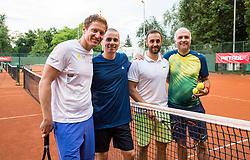 Uros Mesojedec, Blaz Jakic, Aljaz Kos and Goran Belic  at  Petrol VIP tournament 2018, on May 24, 2018 in Sports park Tivoli, Ljubljana, Slovenia. Photo by Vid Ponikvar / Sportida