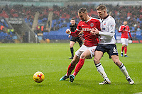 Bolton Wanderers' Josh Vela battles with Charlton Athletic's Patrick Bauer<br /> <br /> Photographer Terry Donnelly/CameraSport<br /> <br /> The EFL Sky Bet League One - Bolton Wanderers v Charlton Athletic - Saturday 28th January 2017 - Macron Stadium - Bolton<br /> <br /> World Copyright © 2017 CameraSport. All rights reserved. 43 Linden Ave. Countesthorpe. Leicester. England. LE8 5PG - Tel: +44 (0) 116 277 4147 - admin@camerasport.com - www.camerasport.com