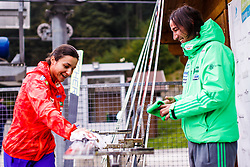 Maja Vtic and Primoz Peterka during national competition in Ski Jumping, 8th of October, 2016, Kranj,  Slovenia. Photo by Grega Valancic / Sportida
