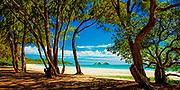A beautiful day on Bellows Beach in Waimanalo, Hawaii