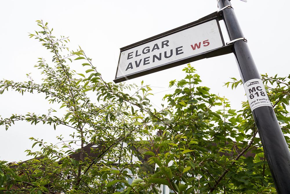 Royal Mail - Music themed streets - Elgar Avenue, Ealing. London, May 30 2018.