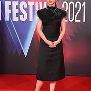 Lucie Zhang arrives at the Paris, 13th District | BFI London Film Festival 2021 14 October 2021 Southbank Centre, Royal Festival Hall, London, UK.