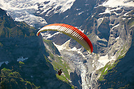 Paragliders in the Swiss Alps above the Grindelwald valley - Swiss Alps - Switzerland .<br /> <br /> Visit our SWITZERLAND  & ALPS PHOTO COLLECTIONS for more  photos  to browse of  download or buy as prints https://funkystock.photoshelter.com/gallery-collection/Pictures-Images-of-Switzerland-Photos-of-Swiss-Alps-Landmark-Sites/C0000DPgRJMSrQ3U