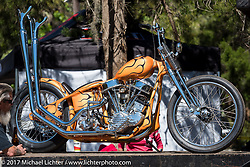 Matt Jackson's 1950 custom Harley-Davidson Panhead at the Chemical Candy Custom's Boogie East Chopper Show at Annie Oakley's Saloon during Daytona Beach Bike Week. FL. USA. Friday March 17, 2017. Photography ©2017 Michael Lichter.