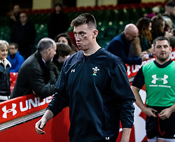 Adam Beard of Wales<br /> <br /> Photographer Simon King/Replay Images<br /> <br /> Six Nations Round 5 - Wales v Ireland Captains Run - Saturday 15th March 2019 - Principality Stadium - Cardiff<br /> <br /> World Copyright © Replay Images . All rights reserved. info@replayimages.co.uk - http://replayimages.co.uk