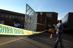 South Africa - Durban - 28 May 2020 -SAPS Phoenix station was closed down after a member tested positive for Covid-19 at Phoenix police station north of Durban, Police officers where seen working outside the premises to assist the public. Some have begun visiting Covid-19 screening and testing centres on Thursday.<br /> Picture: Motshwari Mofokeng/African News Agency(ANA)