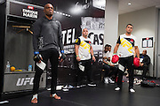 LAS VEGAS, NV - JULY 9:  Anderson Silva warms up in the locker room before UFC 200 at T-Mobile Arena on July 9, 2016 in Las Vegas, Nevada. (Photo by Cooper Neill/Zuffa LLC/Zuffa LLC via Getty Images) *** Local Caption *** Anderson Silva