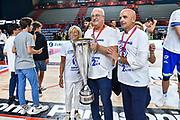 Giuseppe Cuccurese, Andrea Manunta<br /> Banco di Sardegna Dinamo Sassari - Umana Reyer Venezia<br /> Finale Zurich Connect Supercoppa LBA 2019<br /> Bari, 22/09/2019<br /> Foto L.Canu / Ciamillo-Castoria