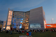 The 70th Anniversary of D-Day ceremony concluded with an outside viewing of HBO's Band of Brothers at the National World War II Museum in New Orleans, LA.