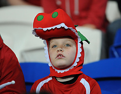 A young wales fan - Photo mandatory by-line: Dougie Allward/JMP - Tel: Mobile: 07966 386802 03/03/2014 -