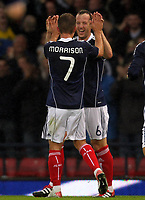 Football - International Friendly - Scotland vs. Denmark<br /> <br /> Scotland vs Norway U21<br /> International Challenge Match, Hampden Park, Glasgow<br /> Charlie Adam of Scotland celebrates his goal with James Morrison.<br /> 10th August 2011<br /> <br /> Ian MacNicol/Colorsport
