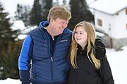 Fotosessie met de koninklijke familie in Lech /// Photoshoot with the Dutch royal family in Lech .<br /> <br /> Op de foto/ On the photo: Koning Willem Alexander en  Prinses Amalia  /////  King Willem Alexander and Princess Amalia