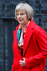 © Licensed to London News Pictures. 26/01/2016. London, UK. Home Secretary THERESA MAY attending a cabinet meeting in Downing Street on Tuesday, 26 January 2016. Photo credit: Tolga Akmen/LNP